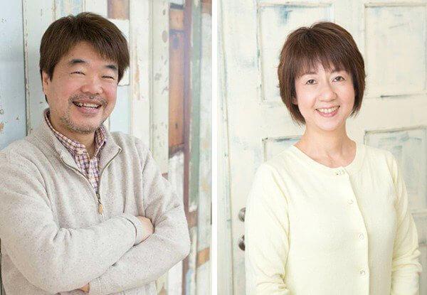 フォトスタジオ若葉スタッフ:安西由博(左)と安西香澄(右)の写真